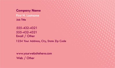 Light Pink Gradient Business Card Template